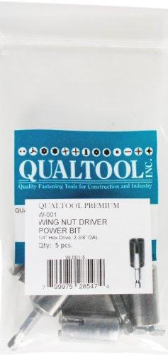 Qualtool Premium W001-5 Power Wing Nut Driver Bit 5-Pack