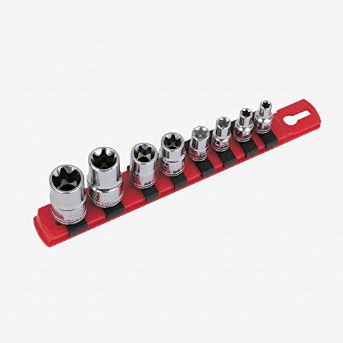 Wiha 77391 External Torx Socket Set on Rail 8 Piece