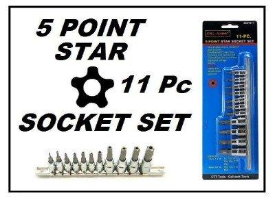 11 Piece 5-Point Star Socket Set