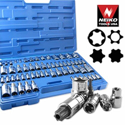 60pc Master Star Socket Set Tool Bit Kit Tamper Proof
