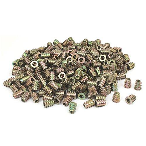 uxcell 6mmx14mm Hex Socket Head Insert Screws E-Nuts Furniture Fittings 300pcs