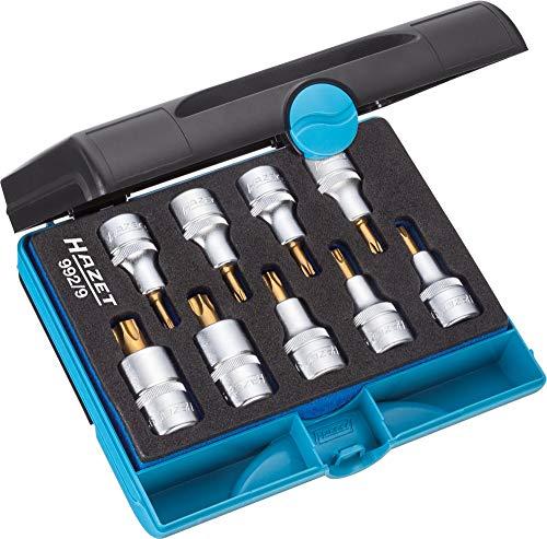 Hazet 9929 Torx T20-T60 9Piece Screwdriver Socket Set