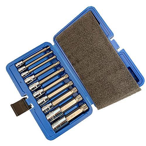 JEHO 10Pcs Wrench Set Car Repair Tool Spanner Screwdriver Socket Set Combination Tool Batch Head Ratchet Pawl Socket