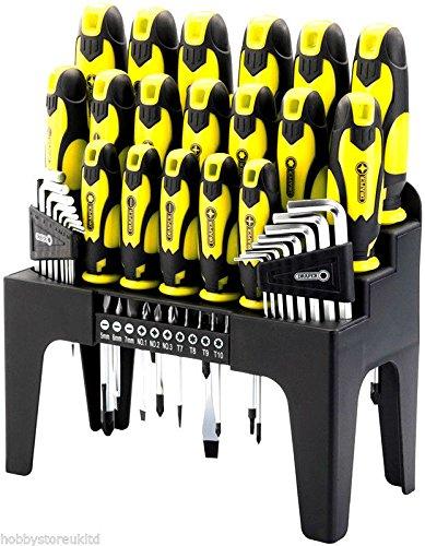 Draper 44 Piece Screwdriver Set Professional Screwdriver Bit Set Tool Set Hex