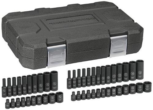GEARWRENCH 48 Pc 14 Drive 6 Point Standard Deep Impact SAEMetric Socket Set - 84902