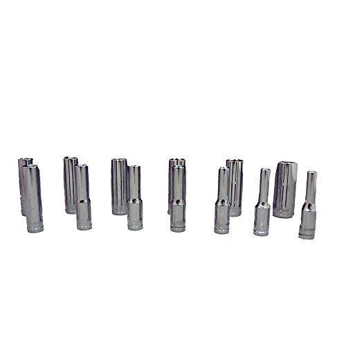 Zenith Industries ZN502245 14 Drive 6-Point Metric Deep 4mm - 14mm Socket Set