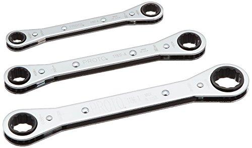 Stanley Proto J1190B 3 Piece Ratcheting Box Wrench Set