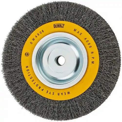 DEWALT Wire Wheel for Bench Grinder Crimped Wire 8-Inch DW4906