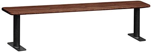 Salsbury Industries Wood Locker Benches 48-Inch Dark Finish
