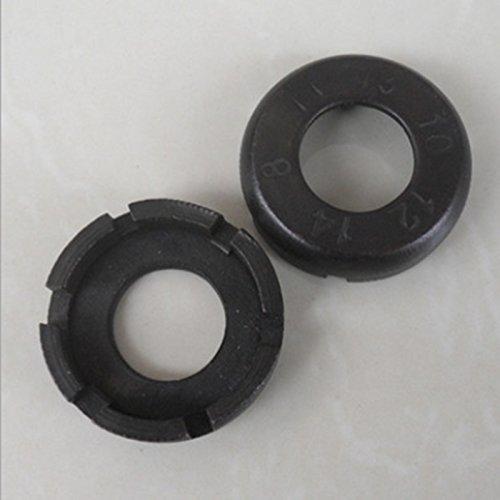 happu-store Black Bike Wheel Spanner Spoke Wrench Steel Adjuster Repair Tool New