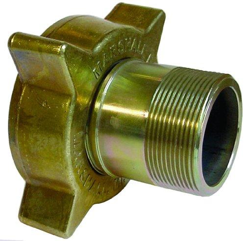 Dixon ME130 Brass Nut Steel Nipple Air Hose Fitting LP Gas Hose Coupling 3-14 Acme Female x 2 NPT Male