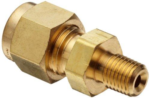 Parker A-Lok 4MSC1N-B Brass Compression Tube Fitting Adapter 14 Tube OD x 116 NPT Male