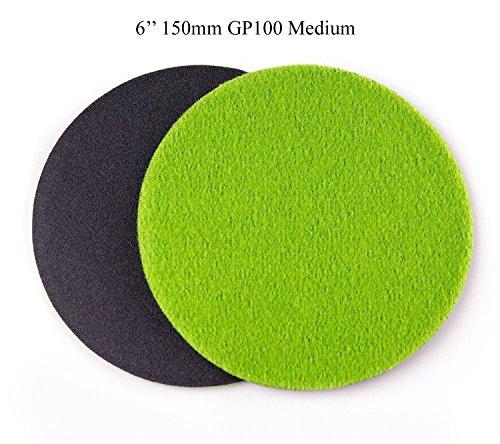 6 inch 150mm GP100 Abrasive Disc for Glass Scratch Repair MEDIUM GRADE pack of 10 discs