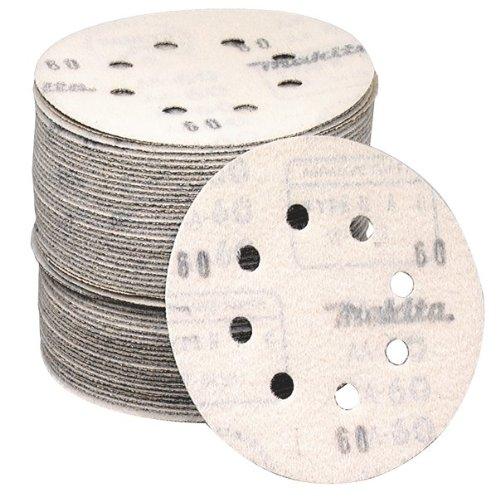 Makita 794518-8-50 5-Inch 60-Grit Hook and Loop Abrasive Disc 50 per package