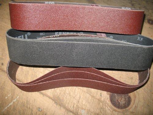 Econaway Abrasives BASIC ALUMINUM OXIDE 2X28 9 Piece Assorted Grit Abrasive Belt Kit-Fits Eastwood Sander