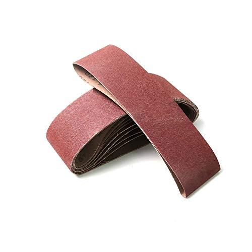 Monster&Master Abrasive Belt Set 3x21 inches Aluminum Oxide Sanding Belt 6080 Grits for Sanding and Polishing Hardwood Chipboard Construction Board Metal 10-Piece MM-AB-001