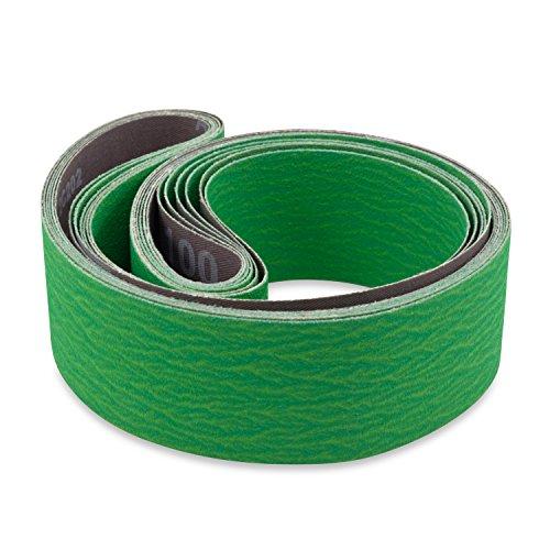 Red Label Abrasives 2 X 42 Inch 220 Grit Metal Grinding Ceramic Sanding Belts Extra Long Life 6 Pack