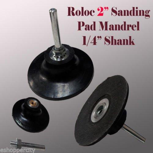 MTP TM 2 Roll Lock Roloc Type Sanding Polishing Disc Mandrel Arbor Holder Type R