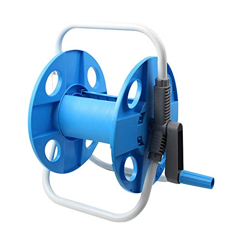 Wall Mounted Hose Holder Household Car Wash Water Hose Reel Garden Accessories Water Pipe Storage Rack Portable Garden Hose Holder Bracket with Copper Interface Color  Blue Size  HBS-067N