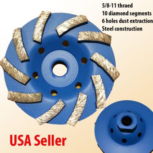 4 58-11 Thread Diamond Grinding CUP Wheel Disc Grinder Concrete Granite Stone