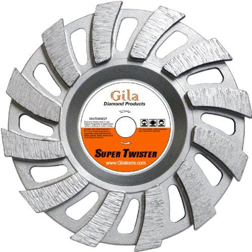 GilaTools 7 Twister II Turbo Segmented Diamond Grinding Cup Wheel 58-11 Threaded