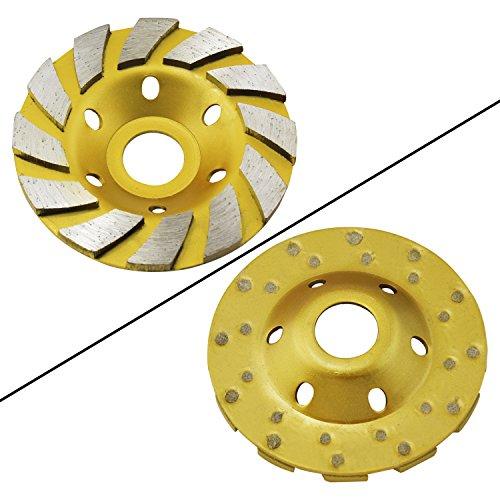 Ocr TM 4 Concrete Turbo Diamond Grinding Cup Wheel for Angle Grinder 12 Segs Heavy Duty Yellow 12segs B