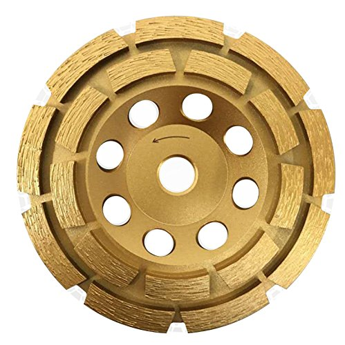 Whirlwind USA GPD 4-12-Inch Diamond Grinding Cup Wheel Double Row Premium Higher Diamond Concentration for Concrete Mortar with 58-Inch 11mm Thread 45