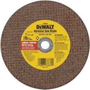 DEWALT DW8056 7-Inch Extended Performance Metal Abrasive Saw Blades