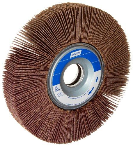 Norton Metalite R265 Abrasive Flap Wheel 1 Arbor Round Hole Aluminum Oxide 6 Dia 1 Face Width Grit 120 6200 Max RPM Pack of 1
