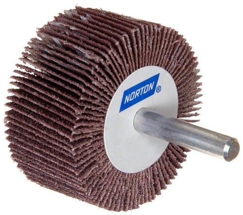 Norton Metalite R265 Abrasive Flap Wheel Round Shank Aluminum Oxide 2 Diameter x 12 Face Width Grit 80 Pack of 10