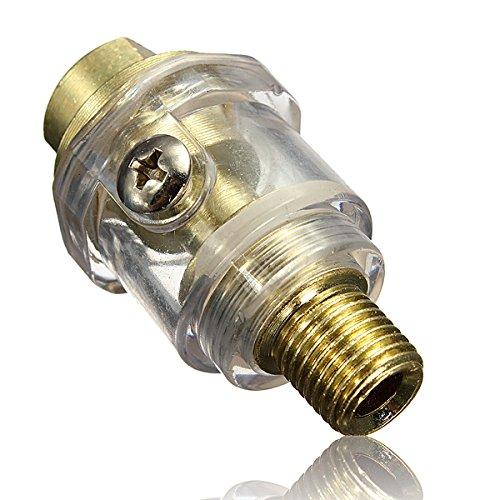 14 Inch BSP Mini In-Line Oiler For Pneumatic Tool&Air Compressor Pipe