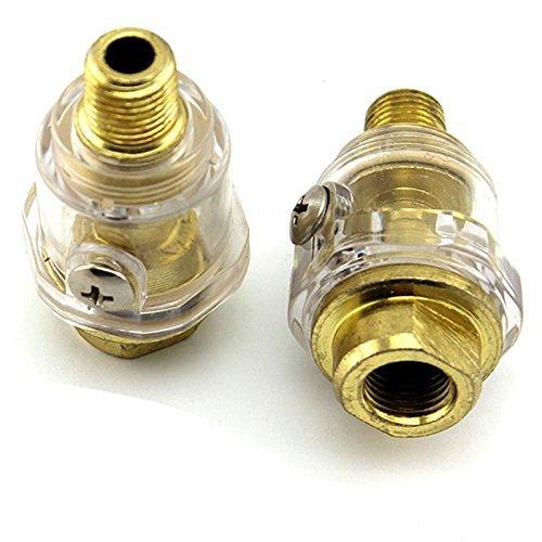 AUAUDATE 14 BSP Mini In-Line Oiler Lubricator for Pneumatic Tool Air Compressor Pipe by Generic