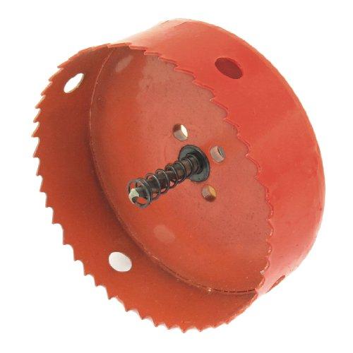 uxcell Orangered Bimetal Hole Cutting Tool 110mm Diameter Hole Saw