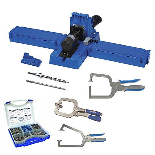 Kreg K5 Pocket-Hole Jig with Pocket-Hole Screw Kit and 3-pc Clamp Set