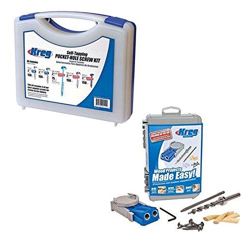 Kreg SK03 Pocket Hole Screw Joinery Kit R3 18-inch Pocket Hole Jig Jr System