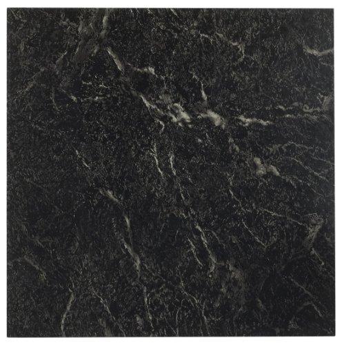 Achim Home Furnishings FTVMA40920 Nexus 12-Inch Vinyl Tile Marble Black with White Vein 20-Pack