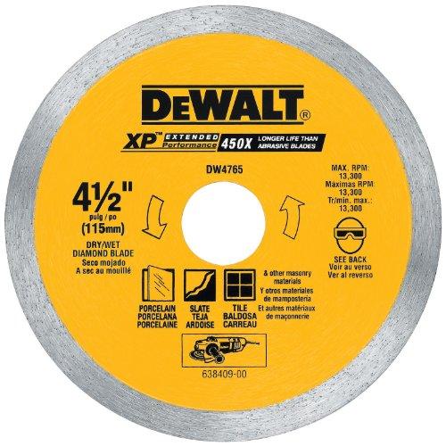 DEWALT Diamond Blade for Porcelain Tile WetDry 4-12-Inch DW4765