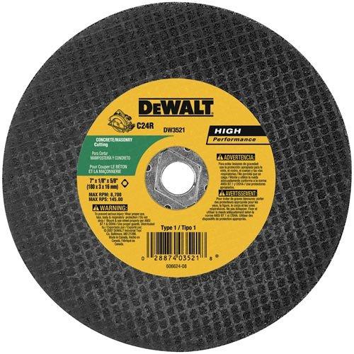 DEWALT DW3521B5 7-Inch High Performance Masonry Cutting Abrasive Saw Blades 5-Pack