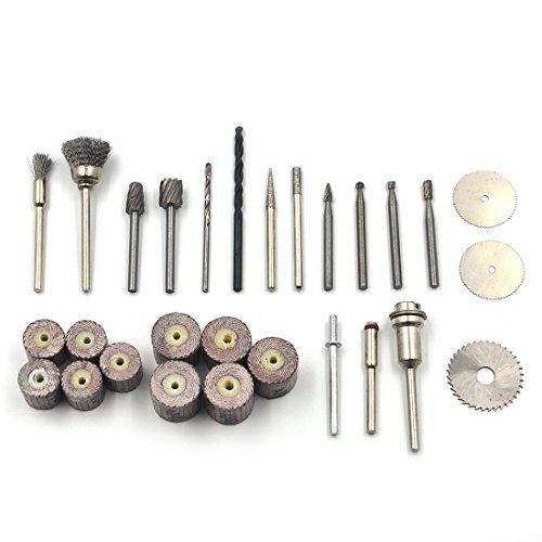 AngelaKerry Grinding Diamond Abrasive Rotary Carving Tools Burr Polishing Set Dremel For Kit
