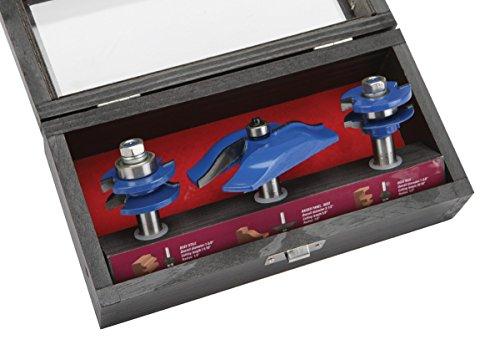 Carbide Tip Doormaker Stile  Raised Panel Router Bit Set 3 Pc