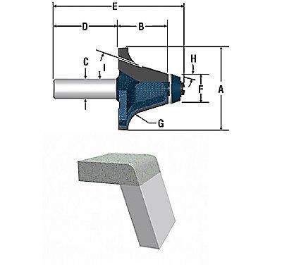Bosch 85661M 2-18-Inch Diameter 1-14-Inch Cut Carbide Tipped Roundover Bowl Router Bit 12-Inch Shank