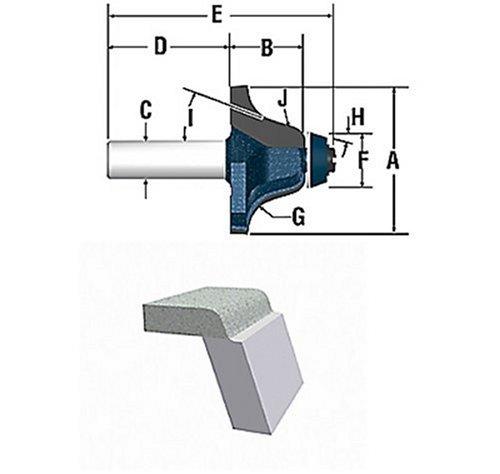 Bosch 85662M 3-Inch Diameter 1-Inch Cut Carbide Tipped Ogee Undermount Bowl Router Bit 12-Inch Shank