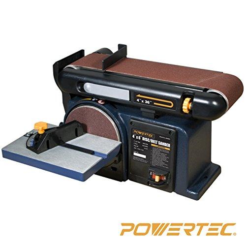 POWERTEC BD4600 Woodworking Belt Disc Sander 4 x 6-Inch