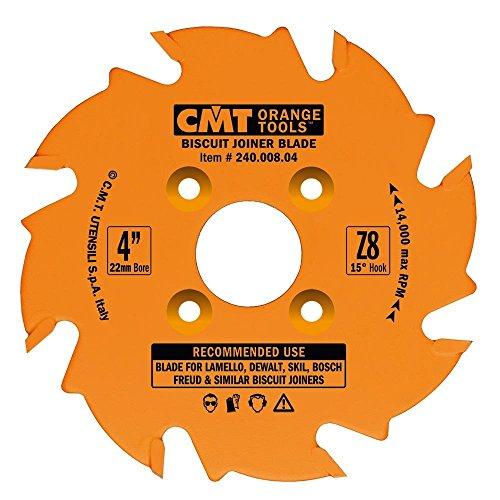 CMT 24000804 Biscuit Joiner Blade 4-Inch Diameter x 8 Teeth PTFE-Coated