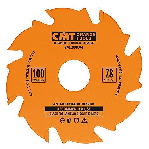 CMT 24100804 Biscuit Joiner Blade 4-Inch Diameter x 8 Teeth PTFE-Coated
