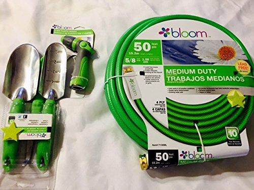 Bloom Garden Hose Sprayer and Gardening Tools Bundle Green