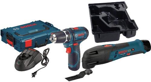 Bosch PS31-2ALB6 12-Volt DrillDriver and Bare-Tool Multi-X Oscillating Tool Bundle Kit