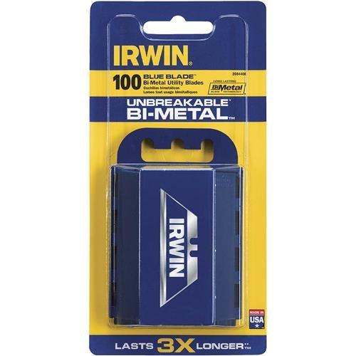 IRWIN Bi-Metal Blue Utility Knife Blades 100-Pack 2084400
