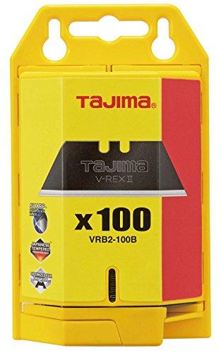 Tajima VRB2-100B V-REX II Premium Tempered Steel Utility Knife Blades 100-Pack