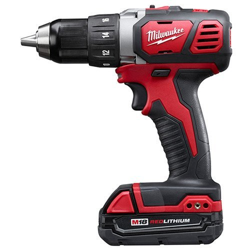 Milwaukee M18 18V Lithium-Ion 12 Inch Cordless Drill Driver Compact Kit 2606-21CT